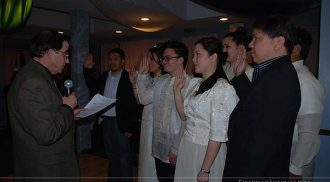 Seven Oaks Filipino Employees Association officers inducted into office