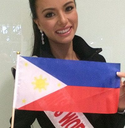 Valerie Weigmann condoles with Miss Honduras' family