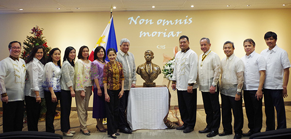 Officers and Staff of the Philippine Embassy in Ottawa celebrate the life of Dr. Jose Rizal