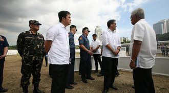 Officials inspect security measures at Quirino Grandstand