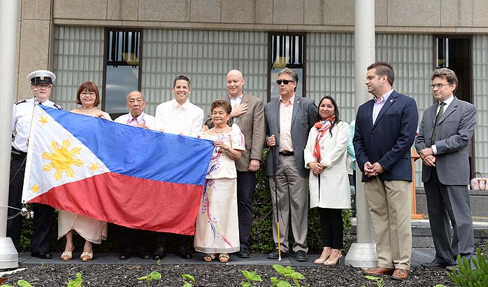The 117th years of Philippine Independence celebrated with flag raisings, cultural shows and independence ball