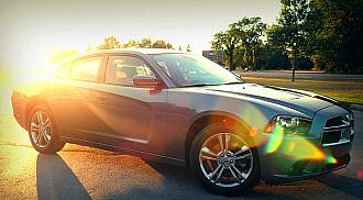 2012 Dodge Charger SXT Plus AWD Cruising in American muscle
