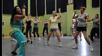 Time to get your sweat on at a Zumba class!