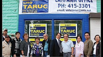 Lito Taruc opens his campaign office