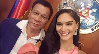 Ms. U Pia Wurtzbach meets the President