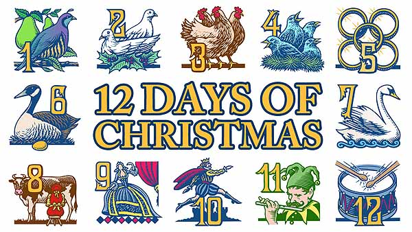 """The Religious meanings of the song: """" The Twelve Days of Christmas"""""""