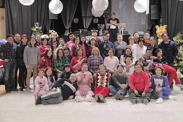 Manitoba Filipino Street Festival Christmas Onesie Party