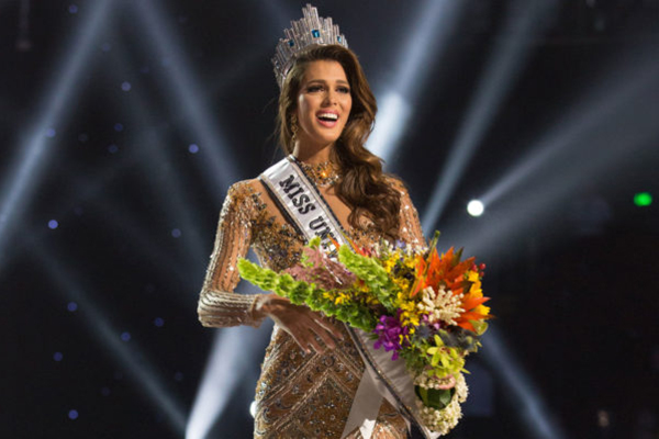 The newly crowned Miss Universe 2016