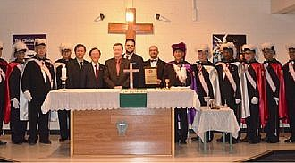 Knights of Columbus Honor Guards for the Blessing of Divine Infant Altar