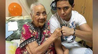 Alden Richards visits 97-year-old sick fan