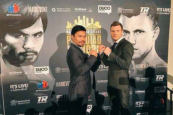 Pacquiao to defend WBO title against Horn