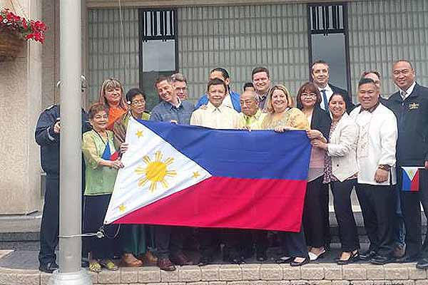 Philippine flag raised at City Hall marks the 119th Independence celebration