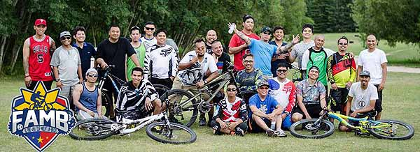 Filipino Amateur Mountain Bikers (FAMB) tearing up the tracks across Manitoba