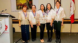 City Councillor Devi Sharma, Minas Pagtakhan and Carmelita de la Cruz inducted as members of the Ladies of Rizal