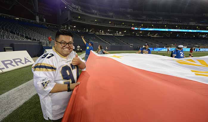 Blue Bomber Game Day: Filipino Night Edition
