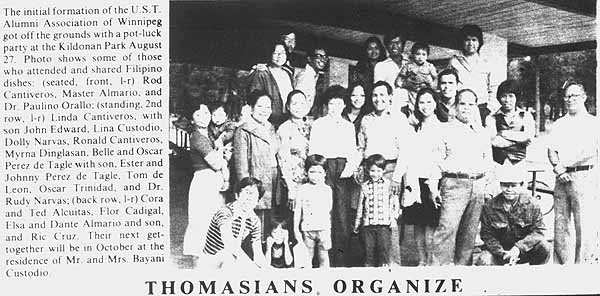 Throwback: The 1st event marked the foundation of the UST Alumni Association, Manitoba Branch