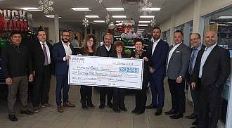 Vickar Automotive Group donates $23,150 to Canadian Cancer Society