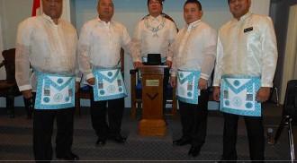 Four Filipino Canadian Newly Raised Master Masons