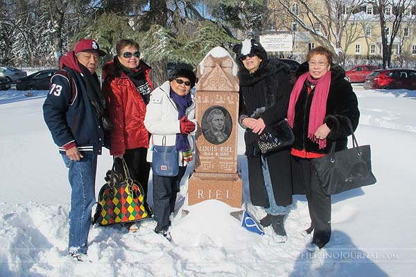 OFSAM and MaCCFA officers visit Louis Riel's house and grave