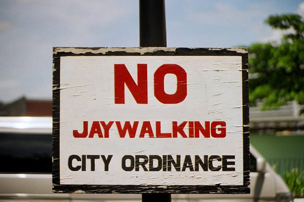 P500 Fine for Jaywalking Violators