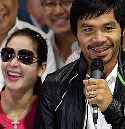Jinkee says Manny should retire from boxing