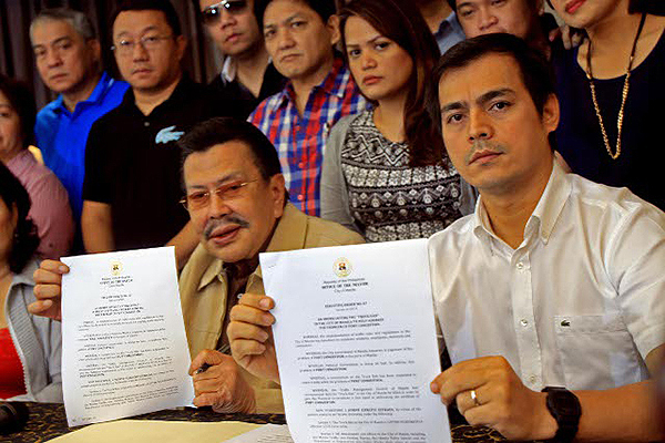 Erap plans to retire in 2016, turning Manila's rein over to Vice Mayor Isko
