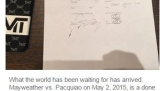Boxing icons Manny Pacquiao and Floyd Mayweather Jr. confirm their anticipated fight Finally
