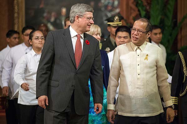 Philippine President Noynoy Aquino arrives in Canada