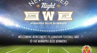 Newcomer Night with the Winnipeg Blue Bombers