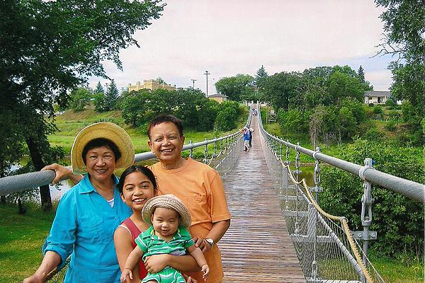 The Souris Swinging  Bridge, Canada`s longest footbridge