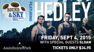 Hedley, Sloan and The Proud Sons to Play at Assiniboine Park
