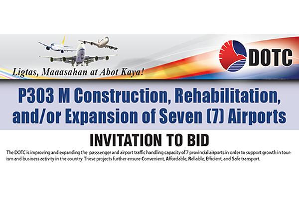 DOTC announces P303M airport rehab project
