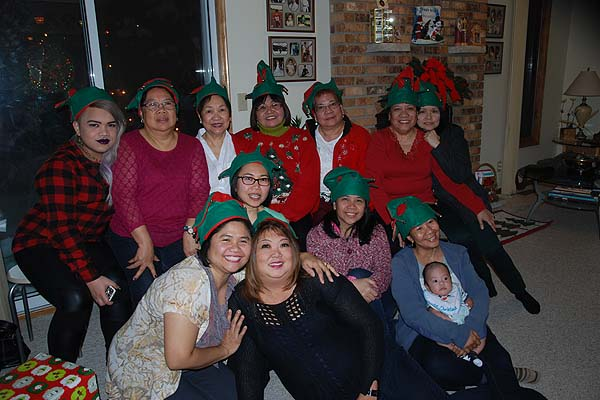 Group A celebrates its annual Christmas Party