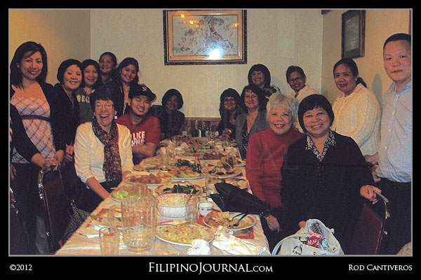 Golden Door Nursing Home employees celebrate Christmas at Emerald Palace