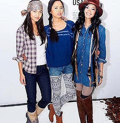 Pinay Ford Supermodels walk for Levi's show in NY