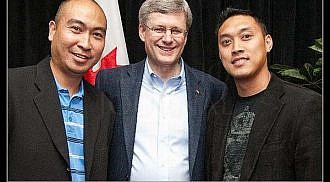 Prime Minister with MFBC members on his Winnipeg October Visit