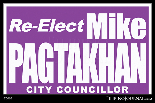 Re-elect City Councilor Mike Pagtakhan