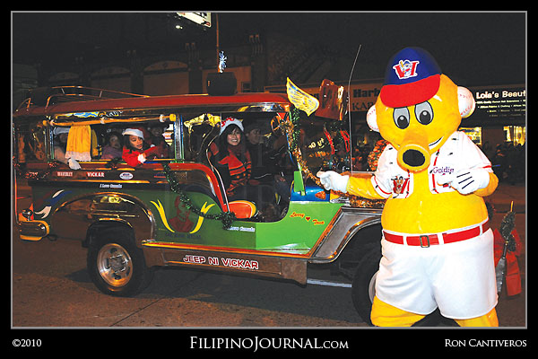 Vickar Jeepney in 101st Winnipeg Santa Claus Parade