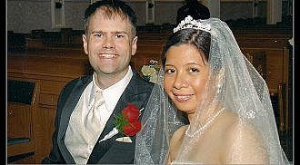 Congratulations to the newly wedded couple Don Campbell and Claire Gellegani
