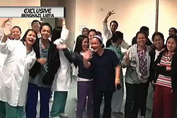 DFA evacuates Filipina maids of Gadhafi family