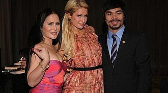 Paris Hilton enjoying her stay in the Philippines