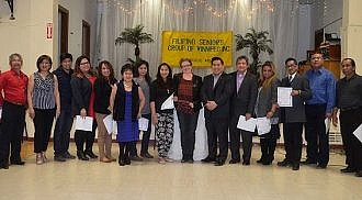 Filipino Seniors Group of Winnipeg induction of officers and board of directors held