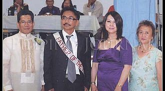 Filipino Seniors Group of Winnipeg celebrates father's day Mario Rosario as Father of the Year 2010