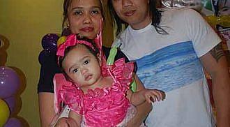 Christine Fernandez 1st birthday and christening