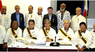 Seven New Knights inducted by Rizal Canada Region