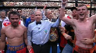 Horn beats Pacquiao for WBO welterweight crown