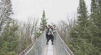 Pinawa Heritage Suspension Bridge