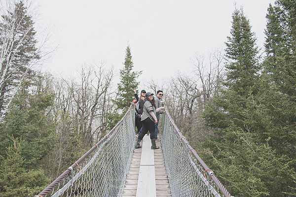 Pinawa Heritage Suspension Bridge