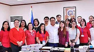 With newly hired and promoted DOLE Employees