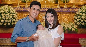 Vic and Pauleen's daughter baptized
